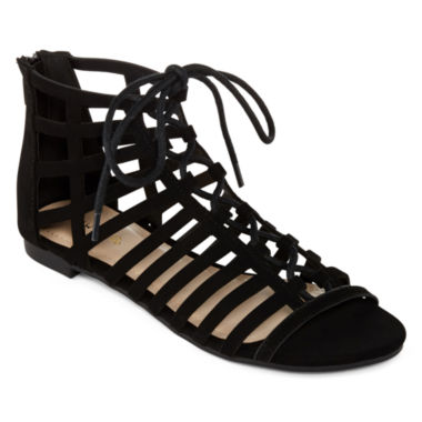 jcpenney.com | Bamboo Candice Lace-Up Gladiator Sandals