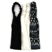 Carole 3-pk. Solid & Print Elastic Headbands