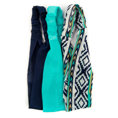 jcpenney.com | Carole 3-pk. Solid & Tribal Print Stretch Headbands
