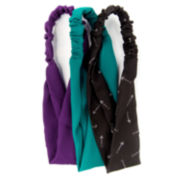 Carole 3-pk. Solid & Arrow Print Stretch Fabric Headbands