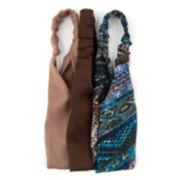 Carole 3-pk. Solid & Print Fabric Headbands