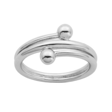 jcpenney.com | Sterling Silver Double Bead Bypass Ring
