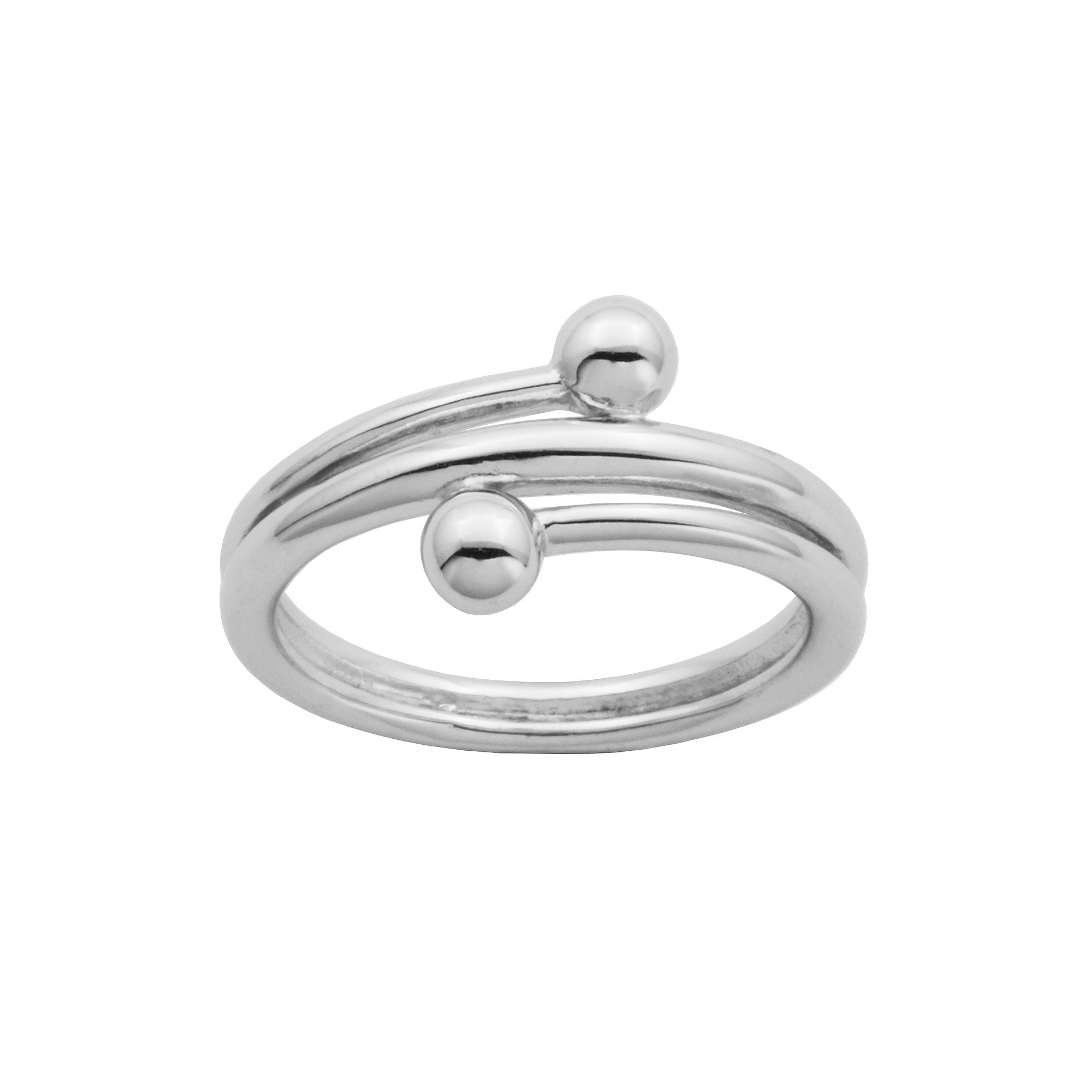 Bypass 20Rings jcpenney jewelry wedding rings Sterling Silver Double Bead Bypass Ring JCPenney