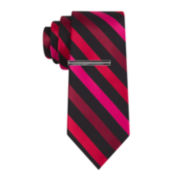 JF J. Ferrar® Patterson Stripe Tie with Tie Bar - Slim