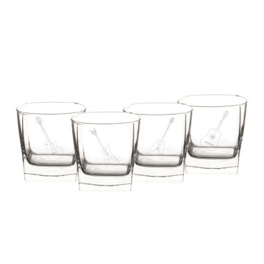 jcpenney.com | Cathy's Concepts Set of 4 Guitar Rocks Glasses