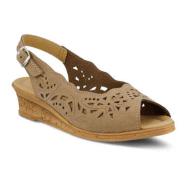 jcpenney.com | Spring Step Orella Slingback Wedge Sandals