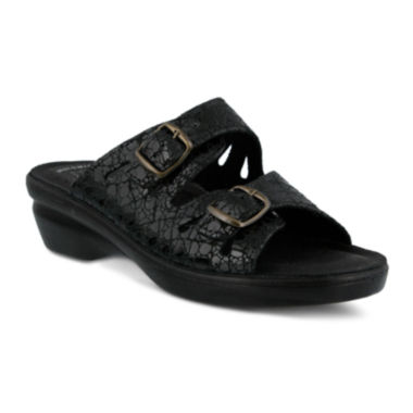 jcpenney.com | Flexus Footstep Leather Slide Sandals