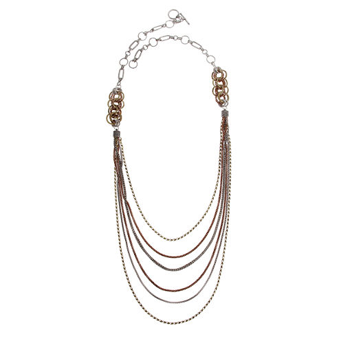 EL by Erica Lyons El By Erica Lyons July Tritone 36 Inch Chain Necklace