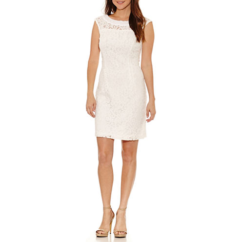 Studio 1 Sleeveless Embellished Sheath Dress-Petites