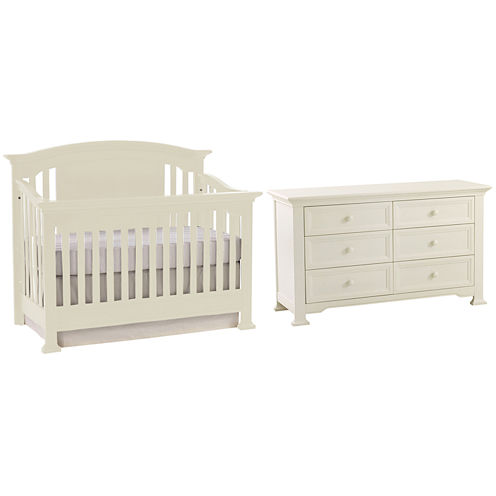 Centennial Medford 2-PC Baby Furniture Set- White
