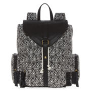 SM New York Triangle Print Cargo Backpack