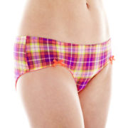 Flirtitude® Microfiber Ruched Hipster Panties