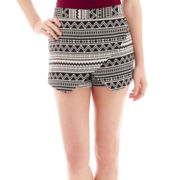 Decree® Faux-Wrap Skort