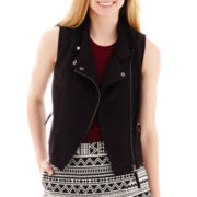 Decree® Sleeveless Front-Zip Moto Vest