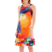 R&K Originals® Sleeveless Tiered Flounce Dress - Petite