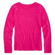 Arizona Long-Sleeve Solid Favorite Tee - Girls 7-16 and Plus