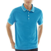 Claiborne® Tipped Piqué Polo Shirt