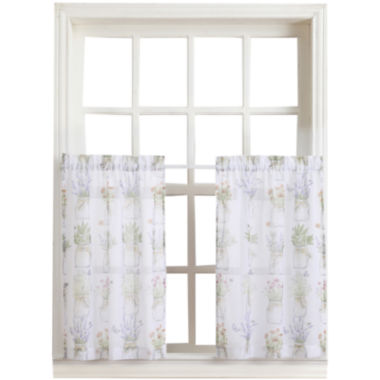 jcpenney.com | Eve's Garden Rod-Pocket Sheer Window Tiers