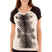 i jeans by Buffalo Short-Sleeve Zebra Print T-Shirt