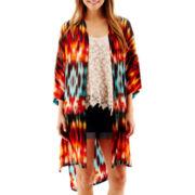 a.n.a® 3/4-Sleeve Kimono Duster - Tall