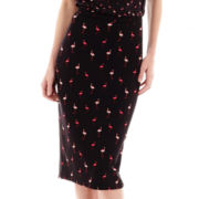 I 'Heart' Ronson® Scuba Knit Print Pencil Skirt