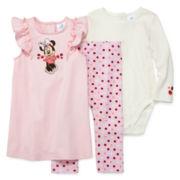 Disney Baby Collection Minnie 3-pc. Set - Baby Girls newborn-24m