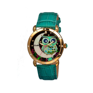 jcpenney.com | Bertha Ashley Womens Mother Of Pearl Teal Leather Strap Watch Bthbr3003