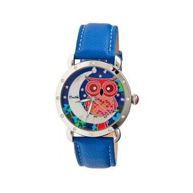 jcpenney.com | Bertha Ashley Womens Mother Of Pearl Dial Blue Leather Strap Watch Bthbr3005