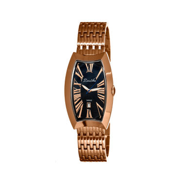 jcpenney.com | Bertha Laura Womens Swiss Black Dial Rose Gold Tone Bracelet Watch Bthbr3206