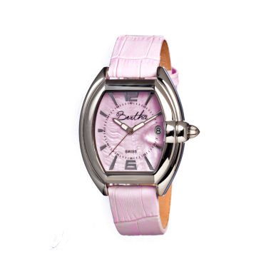 jcpenney.com | Bertha Chloe Womens Swiss Pink Leather Strap Watch Bthbr3405