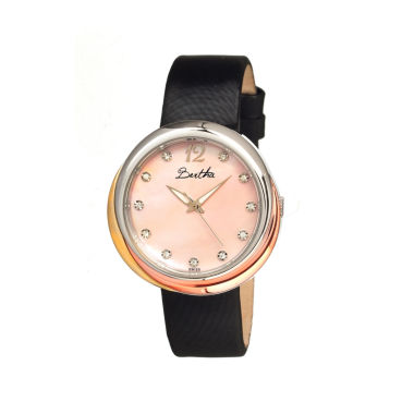 jcpenney.com | Bertha Jean Womens Swiss Light Pink Leather Strap Watch Bthbr3503