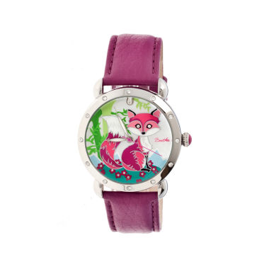 jcpenney.com | Bertha Vivica Womens Mother Of Pearl Dial Fuschia Leather Strap Watch Bthbr3701