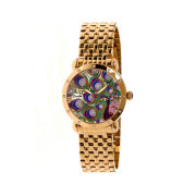 Bertha Genevieve Womens Mother Of Pearl Dial Gold Tone Bracelet Watch Bthbr3802