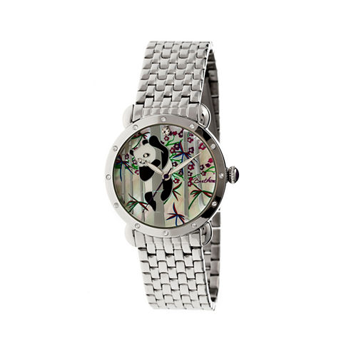 Bertha Lilly Womens Mother Of Pearl Dial Silver Tone Bracelet Watch Bthbr4501