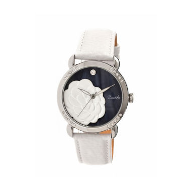 jcpenney.com | Bertha Daphne Womens White Rose Leather Strap Watch Bthbr4602