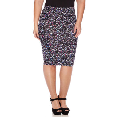 jcpenney.com | Decree® Midi Bodycon Pencil Skirt - Plus - Juniors Plus