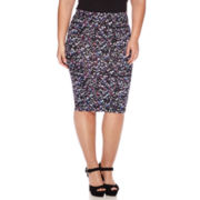 Decree® Midi Bodycon Pencil Skirt - Plus