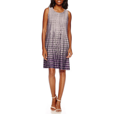 jcpenney.com | Perceptions Sleeveless Geo-Print Pleated-Front Shift Dress
