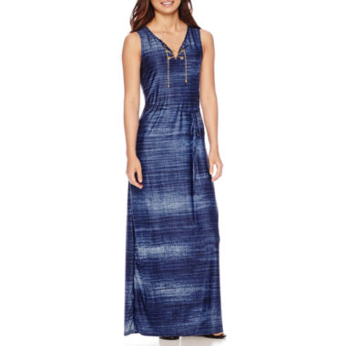 jcpenney.com | Madison Leigh Sleeveless Lace-Up Ombré Maxi Dress