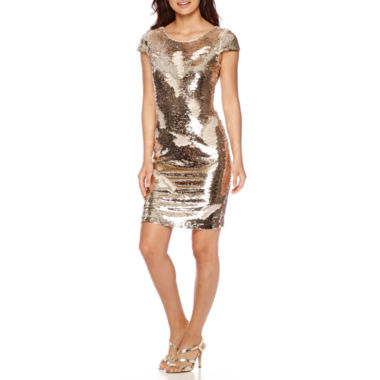 jcpenney.com | Renn® Short-Sleeve Reversible Sequin Sheath Dress
