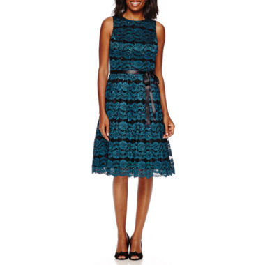 jcpenney.com | Jackie Jon Sleeveless Lace Party Dress With Bow Belt