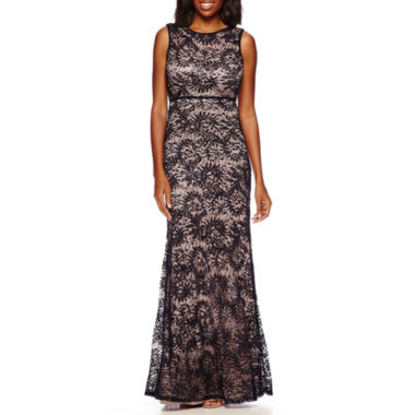jcpenney.com | R&M Richards Sleeveless Formal Lace Gown