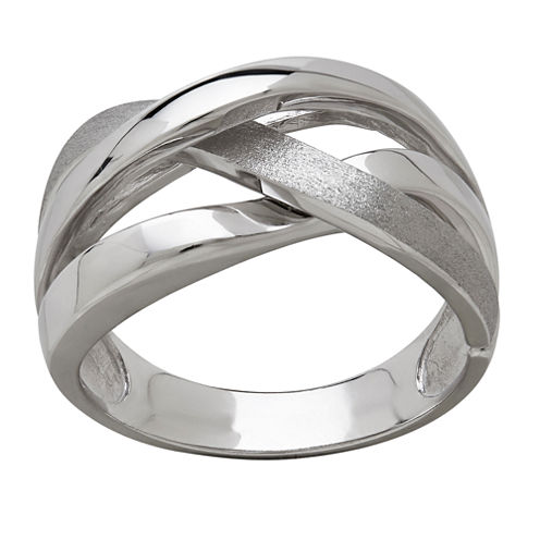 14K White Gold Intertwined Band Ring