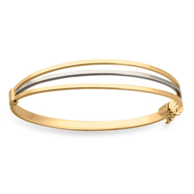 jcpenney.com | 14K Two-Tone Gold 3 Row Hinged Bangle
