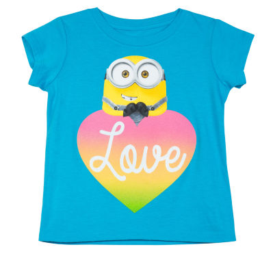 jcpenney.com | Despicable Me Short-Sleeve Minion Heart Luv Tee - Preschool Girls 4-6x