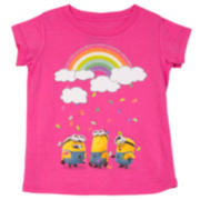 Despicable Me Short-Sleeve Minion Rainbow Tee - Toddler Girls 2t-4t