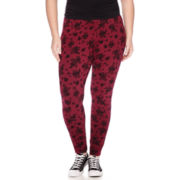 Arizona Basic Print Leggings - Juniors Plus