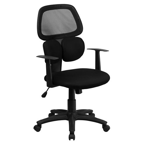 Double Lumbar Support Mesh Task Chair