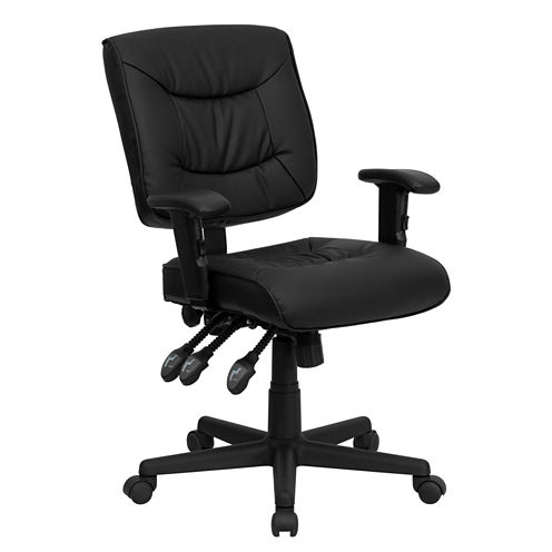 Contemporary Mid-Back Tripple Paddle Control Office Chair
