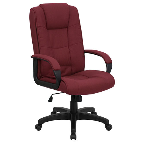 Upholstered Office Chair With Headrest